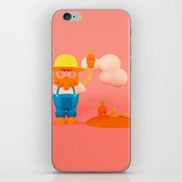 Farmer & carrots iPhone Skin
