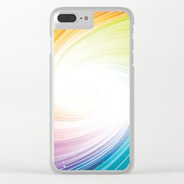 Rainbow background Clear iPhone Case