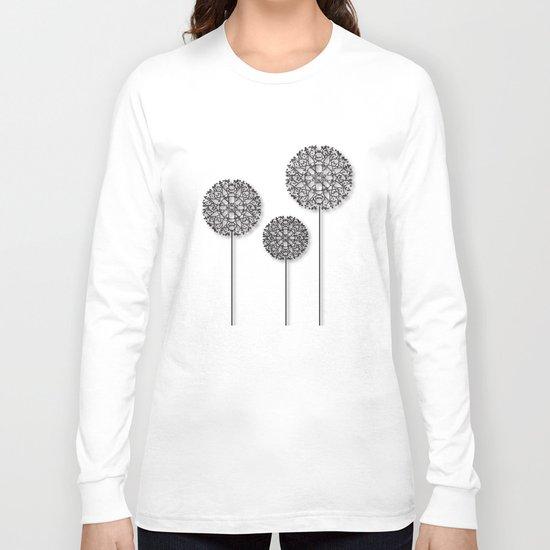 Black Star Flower Long Sleeve T-shirt