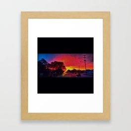 Watercolor Painted Sky Framed Art Print