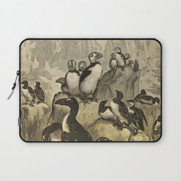 Naturalist Penguin And Puffin Laptop Sleeve