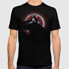 SuperHeroes Shadows : Captain America Mens Fitted Tee Black X-LARGE