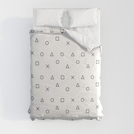 gaming pattern - gamer design - playstation controller symbols Comforters