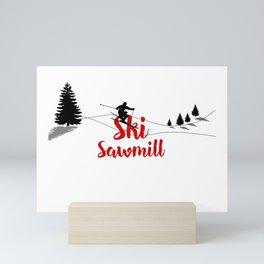 Ski at Ski Sawmill Mini Art Print