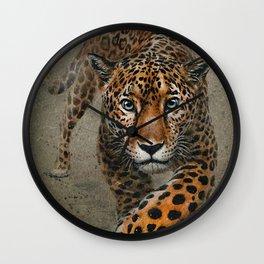 Leopard background Wall Clock