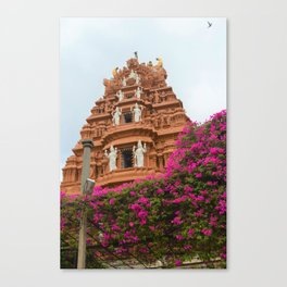 Divine towers of South India Canvas Print