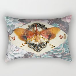 Star spangled lantern fly with succulents Rectangular Pillow