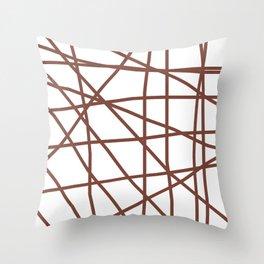 Doodle (Brown & White) Throw Pillow
