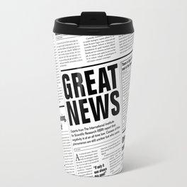 The Good Times Vol. 1, No. 1 / Newspaper with only good news Travel Mug