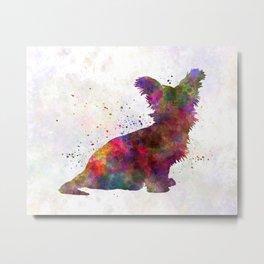 Skye Terrier 02 in watercolor Metal Print
