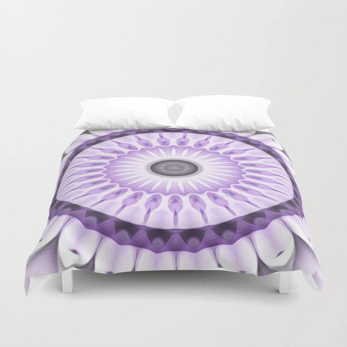 Purple Daisy Kaleidoscope Duvet Cover