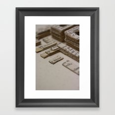 Book Art Maze 2 Framed Art Print