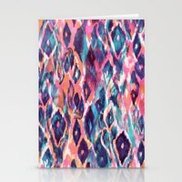 ikat Stationery Cards featuring Mystical Ikat by Nikkistrange