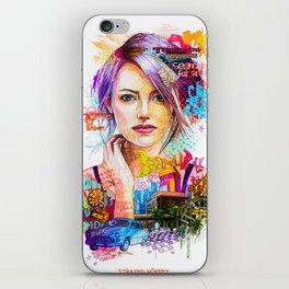 Pensive girl iPhone Skin