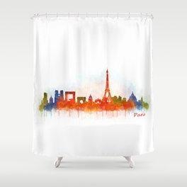 Paris City Skyline Hq v3 Shower Curtain