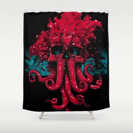 Eldritch Feel (Red Variant) Shower Curtain