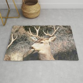 Watercolor Deer, Mule 23, Crestone, Colorado, Buckin Up Rug