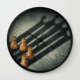 the pawns crown Wall Clock