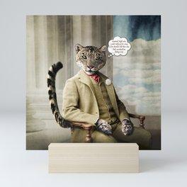 Sir Sebastian Snow Leopard Mini Art Print