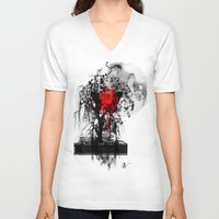 japan V-neck T-shirts featuring Japan by Annabelle Vauvrecy