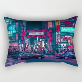 Cyberpunk Tokyo Street Rectangular Pillow