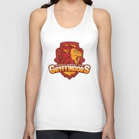 quidditch Tank Tops featuring Hogwarts Quidditch Teams - Gryffindor by Deadround