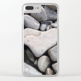 Heart Shaped Rock Clear iPhone Case