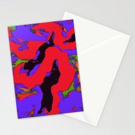 Meander red Stationery Cards