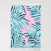 palm tree Stationery Cards featuring Palm tree by Hanna Kastl-Lungberg