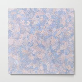 Rose Quartz and Serenity Blue 4644 Metal Print