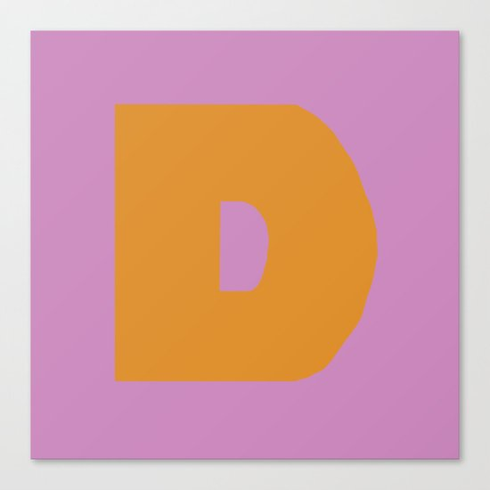 Orange D Canvas Print