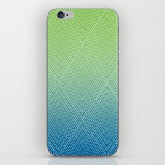 Diamonds (GreenFlashSnorkelBlue Fade) iPhone & iPod Skin