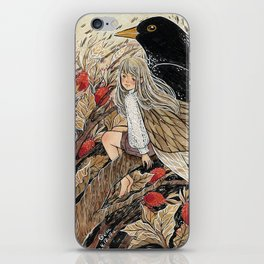 Fairy and Blackbird iPhone Skin