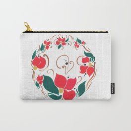 Redflower wreath Carry-All Pouch
