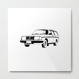 Car Volvo Metal Print