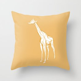 geometric giraffe Throw Pillow