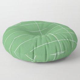 Library Card BSS 28 Negative Green Floor Pillow