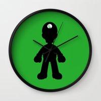 luigi Wall Clocks featuring Luigi  by Jessica Wray