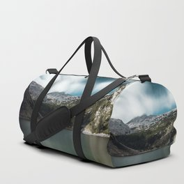 Magnificent lake Krn with mountain Krn, Slovenia Duffle Bag