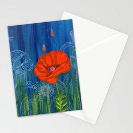 Poppy Night Stationery Cards