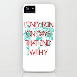 Running Days iPhone Case