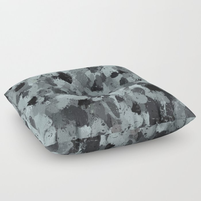 Black and Smokey Blue Pastels 3216 Floor Pillow