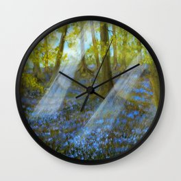 Bluebell Wood Wall Clock