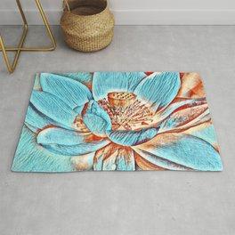 Cute Lotus Flower Design Art Rug