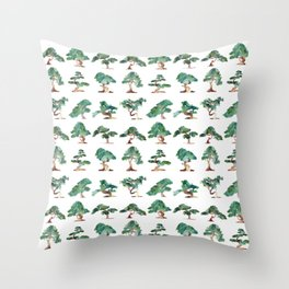Bonsai Pattern Throw Pillow