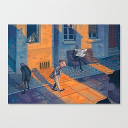 All Over Town Canvas Print