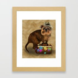 Traveller // quokka Framed Art Print