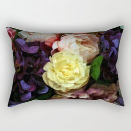 Shabby Chic Flowers Pattern Rectangular Pillow