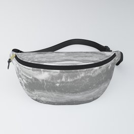 Real Gray Marble Fanny Pack