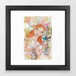 Rescued by patsy paterno Framed Art Print